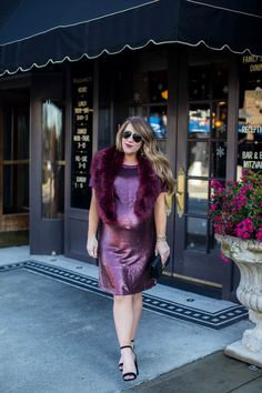 Sequin T-Shirt Dress | Coffee Beans and Bobby Pins