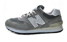 NEWBALANCE Gray And Silver And White Mens  Suede Running Shoes 574 - ShopGoo Online Store