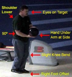 bowling starting position