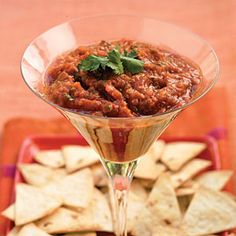 43 Showstopping Party Appetizer Recipes | Dressed-up Salsa | SouthernLiving.com