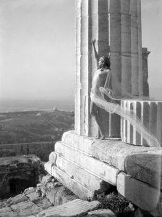 """Nelly's Nikolska at the Acropolis (1929). Elli Sougioultzoglou-Seraidari AKA """"Nelly's"""", photographer (1899-1998) #Greece"""