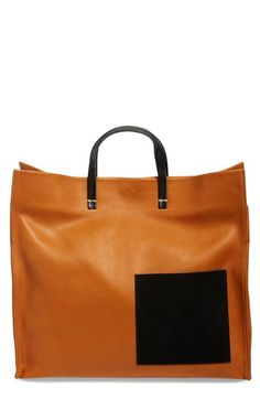 24a39a18a2bf Clare V. Glossy  Simple  Patch Pocket Leather Tote available at  Nordstrom  Glossier