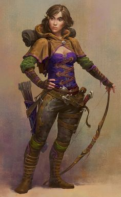 Ranger Marina (detail) by Alexandre Mokhov For Guild Of Heroes / blt GAMES