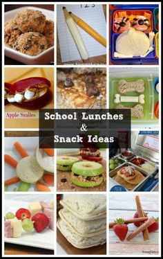 Give kids awesome back to school lunches and after-school snacks that they'll actually WANT to eat with these 17 awesome recipes and ideas for picky kids!