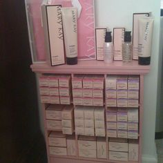 My new cubby with my foundations. As a Mary Kay beauty consultant I can help you, please let me know what you would like or need. www.marykay.com/KathleenJohnson www.facebook.com/KathysDaySpa