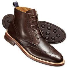 Hixham Budapester-Stiefel Walkleder braun   Herren Stiefel von Charles Tyrwhitt aus der Jermyn Street in London