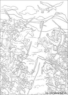 The chronicles of Narnia coloring picture