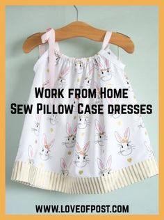 LOP Work from Home - Sew Pillowcase dresses - Love of Post Girl Dress Patterns, Blouse Patterns, Skirt Patterns, Sewing Projects For Kids, Sewing For Kids, Maxi Dress Tutorials, Fleece Hats, Home Sew, Sewing Patterns Free