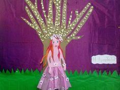 Η ανθισμένη μας αμυγδαλιά School Hacks, School Tips, Spring Crafts, Aurora Sleeping Beauty, Winter Craft, Activities, Christmas Ornaments, Disney Princess, Holiday Decor