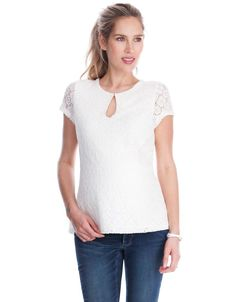 Ivory Lace Maternity Top   Seraphine   Stylish maternity clothes   Love maternity fashion