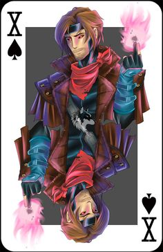 Gambit by RadiantGrey on Etsy, $9.99  See the artists online shop here:  http://www.etsy.com/shop/RadiantGrey