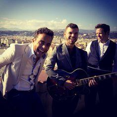 The Troubadours on the French Riviera - Sam, Adrian & Jason