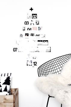 Modern Holiday // black and white Christmas