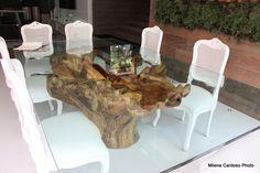 base de tronco de madeira para mesa - Google Search