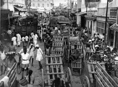 The streets in 1961 in and around Kothawal Chavadi...
