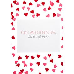 Sassy Funny Valentines Day Card (355 RUB) ❤ liked on Polyvore featuring home, home decor and stationery