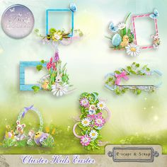 Kids Easter Cluster (PU/S4H) by Bee Creation