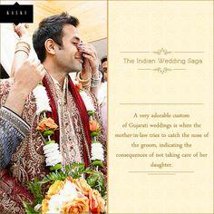 An interesting wedding ritual. Pin it if you love Gujarati weddings.