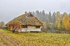 Osowicze Podlasie Hogwarts, Cottage, Cabin, House Styles, Poland, Cottages, Cabins, Wooden Houses