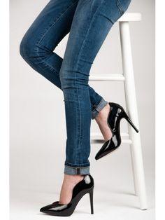 Čierne dámske lodičky Helen 02450NE / S1-35P Stiletto Heels, Shoes, Fashion, Moda, Zapatos, Shoes Outlet, Fashion Styles, Shoe, Footwear