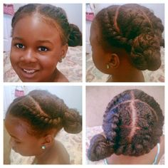Natural Kids cute updo.