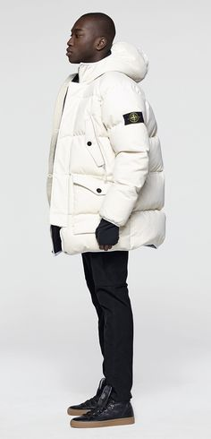 Stone Island See Puffer Jackets, Winter Jackets, Stone Island Jacket, Mens Stone Island, Bape, Mens Down Jacket, Mens Parka Jacket, Man Jacket, Stone Island Clothing
