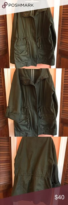 7d1c4485494be Military Green Jacket- SOLD on Vinted Excellent condition; right on trend;  great color