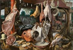 The family is dead meat in capitalism (Pieter Aertsen, Still Life with Meat and the Holy Family, 1551; Source: Wikimedia Commons, PD-Old-100).