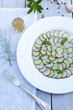 Great summer treat: Cucumber & Radish Carpaccio Salad