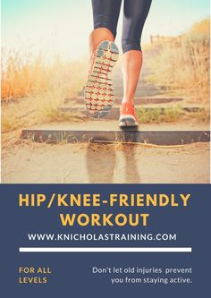 This is a great workout for people with bad knees or sore hips. It's a low impact workout that can be done at home or the gym. Tone and strengthen your body even if you have sore knees or hips. Outdoor Workouts, Fun Workouts, At Home Workouts, Sore Knees, Bad Knees, Low Impact Hiit, Ladder Workout, Hip Injuries, Best Cardio