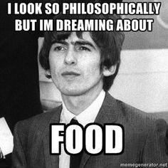 George H. Harrison♥♥  He loves food!!! :)