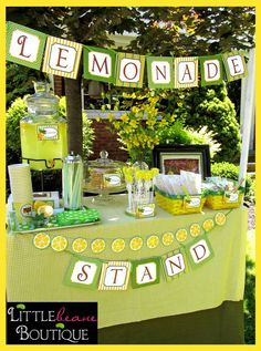 Lemonade Stand Printable Collection by LittlebeaneBoutique on Etsy