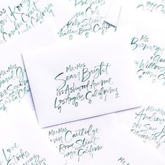 Envelope strong this week  and hell yes happy freaking Friday!! . #brushlettering #nicolemiyukienvelopes #dailydoseofpaper #watercolorlettering