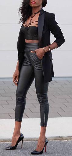 amazing black outfit idea