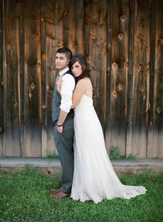 wedding pose :).... Isn't this so funny Steph?! It's just like Wes and Alyssa's.... Even the barn...