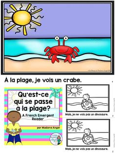 L'été à la plage!  Fun emergent reader for a Summer or Beach themed Immersion or Core French class.  Features practice using the negative.