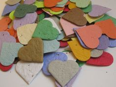 Plantable Seed Paper Hearts Confetti - 100 Count - Variety Blend - Eco Friendly, Wedding Favors, Bridal Showers, Cards & Crafts via Etsy Vintage Wedding Cake Table, Vintage Wedding Signs, Wedding Paper, Wedding Cards, Wedding Fun, Wedding Ideas, Bridal Shower Favors, Bridal Showers, Baby Showers