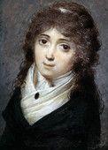 Descrizione: Lucile Desmoulins nee Duplessis (1771-1794) femme de Camille Desmoulins ici agee de 23 ans en 1794 epoque de la Revolution Francaise