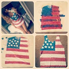 diy american flag tank top by SAburns