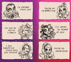 ever after high valentines by egophiliac
