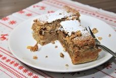 Kuskusnik s jablky /Cous-cous cake with apples/ Zdravý recept /Healthy recipe/