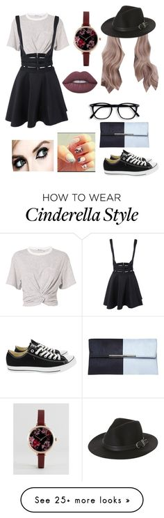 """""""Hipster"""" by fandoms-and-good-music on Polyvore featuring T By Alexander Wang, Converse, Rusty, Dorothy Perkins, ASOS and Lime Crime"""