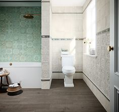 The Gatsby series makes a statement in any room, with it's tin, pressed-metal facade. Gatsby, Conception 3d, Tuile, Feature Tiles, Retro Vintage, Tile Patterns, Bathroom Wall, Wall Tiles, Tile Floor