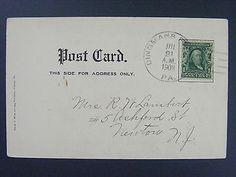 Dingmans Ferry Pennsylvania Pike CO 1908 Type 3/5 Doane Cancel Postmark Postcard