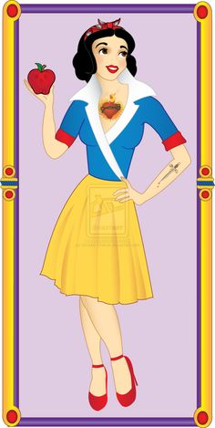 Rockabilly Snow White by ~Chubby-Cherub on deviantART
