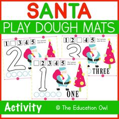 Help your students learn numbers 1-5 with these Santa Play Dough Mats!⭐ 5 pagesGraphic Credit to: PrettyGrafik✧✧✧✧✧✧✧✧✧✧✧✧✧✧✧✧✧✧✧✧✧✧✧✧✧✧✧✧✧✧✧✧✧✧✧✧✧Love this Play Dough Mats activity? Try some of my other Play Dough Mats resources!✨FREE The Nativity Play Dough Mats 1-5✨Christmas Monster Counting Play... Christmas Printable Activities, Learning Numbers, Play Dough, Student Learning, Winter Christmas, Counting, Nativity, Students, Santa