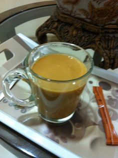 Chai Karak - Arabic tea with smoked milk, delicious, from Dubai.  May be made over an open fire.