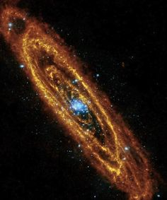 Andromeda is our nearest neighboring galaxy at 2.5 million light years away. One single light year is roughly 6 trillion miles. Feeling small yet?