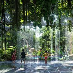 Designers with ZAS Architects are working on a first-of-its-kind indoor tropical rainforest for the upcoming Rosemont Five Star Hotel & Residences in Dubai. Green Architecture, Futuristic Architecture, Landscape Architecture, Landscape Design, Dubai Hotel, Casa Steampunk, Glass Bottom Pool, Jungle Resort, Disneyland