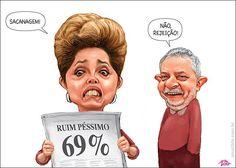 Popularidade de Dilma ruim e péssima de 69% não é sacanagem... é rejeição!...